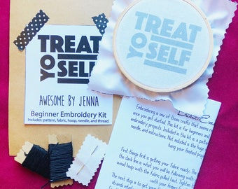 DIY Embroidery Kit Treat Yo Self