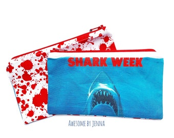 Handmade Shark Week Parody Tampon Period Bag Womens Health Feminist Humor
