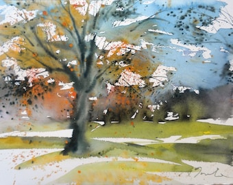 New England Fall-Scape No.2, limited edition of 50 fine art giclee prints