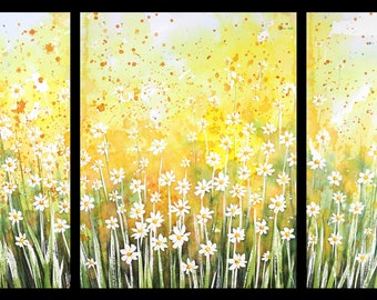 Triptych May 2019 no.1-S, limited edition of 50 fine art giclee prints from my original watercolor