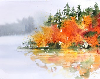 22x30 May 2018 no.2, original watercolor by Sumiyo Toribe