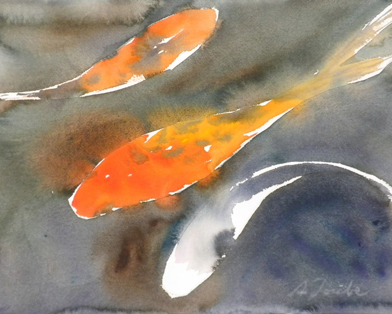 Koi Fish No.1 limited edition of 50 fine art giclee prints image 0