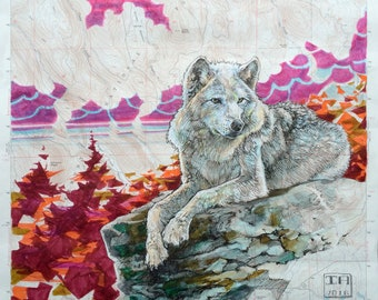 White Wolf Forest Lookout - Museum Quality Print