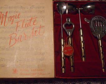Vintage Magic Flute Bar Set Royal London International Gift Collection