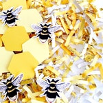Bee Birthday Party Decorations, Confetti, Bee Themed Baby Shower, Bee Party, Honey Bee Party, Bumble Bee Decorations, Bee Baby Shower Decor