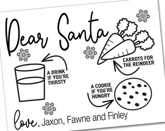 Small Wall Hanging Mini Placemats Centerpiece Santa Snack Mat for Christmas Eve Milk and Cookies Snack Mats