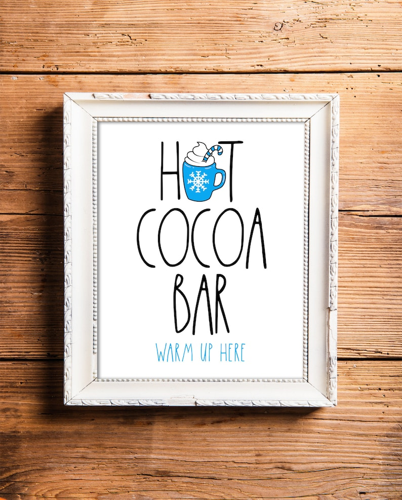 Hot Chocolate Bar Sign Hot Cocoa Party Printable Hot Cocoa image 0