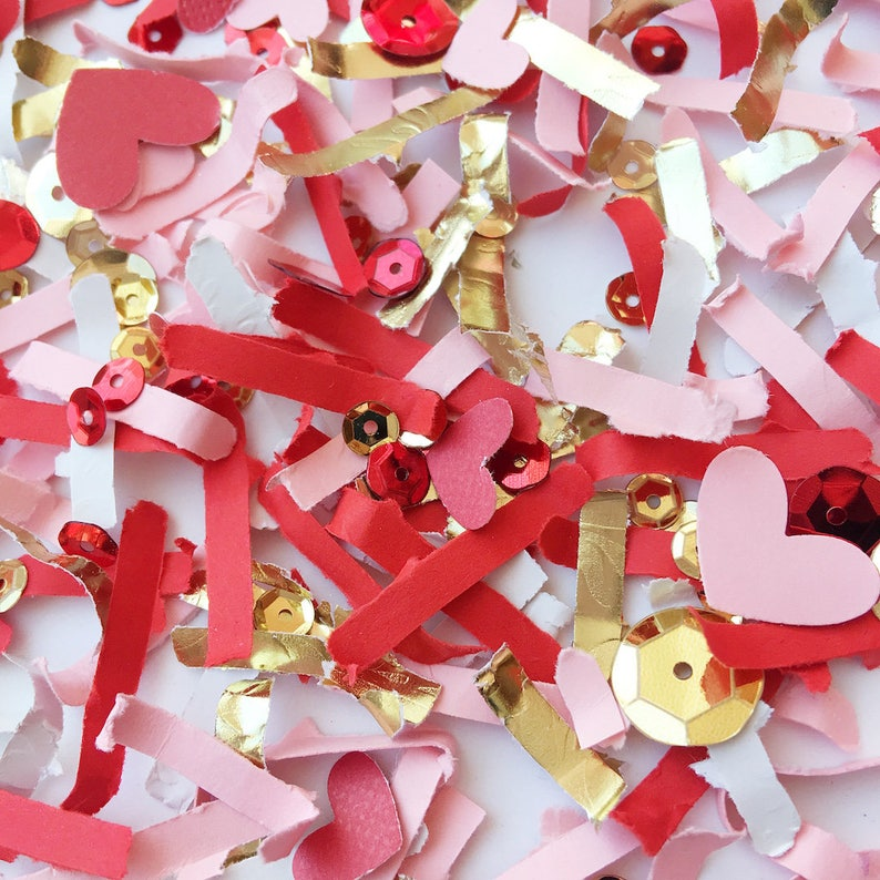 Valentines Day Decoration Heart Die Cut Confetti Valentine image 0