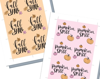 Printable Fall Tags, Fall Y'all Gift Tags, Autumn Tags, Pumpkin Spice Tags, Digital Fall Gift Tags, Thanksgiving Party Tag, Pumpkin Gift Tag