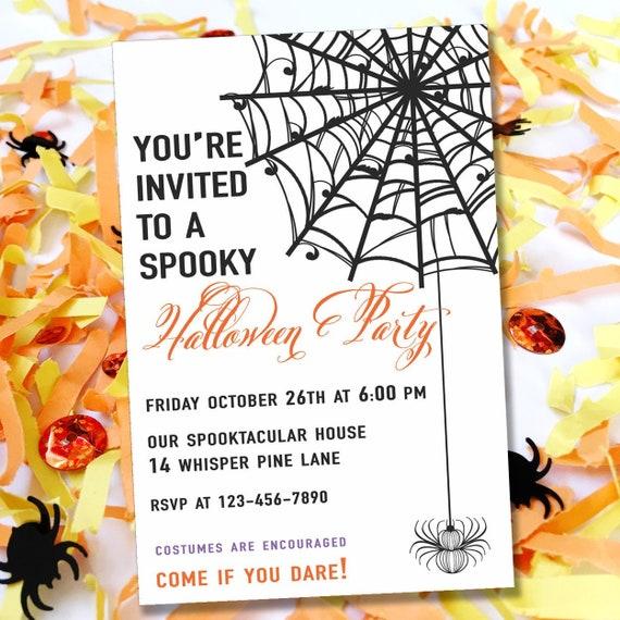 halloween party invitation kids halloween party invite printable
