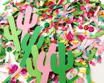 Cactus Party Decorations, Fiesta Confetti, Cupcake Toppers, Cinco de Mayo Decor, Fiesta First Birthday, Cactus Toppers, Pinata Theme