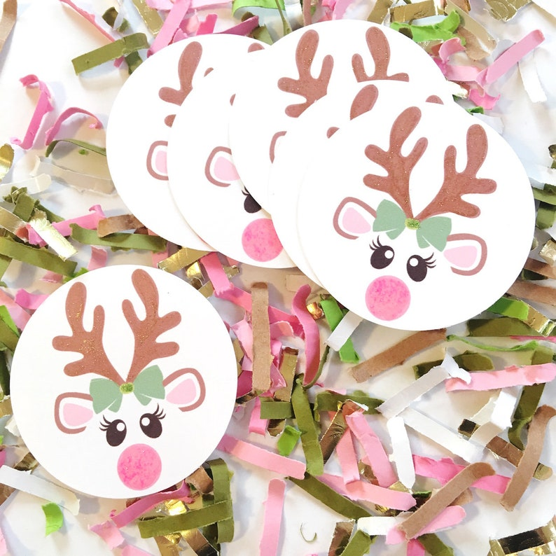 Woodland Baby Shower Decor Deer Confetti Oh Deer Baby Shower image 0