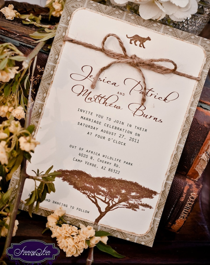 Vintage Desert Safari Wedding Invitations Hand Painted Etsy