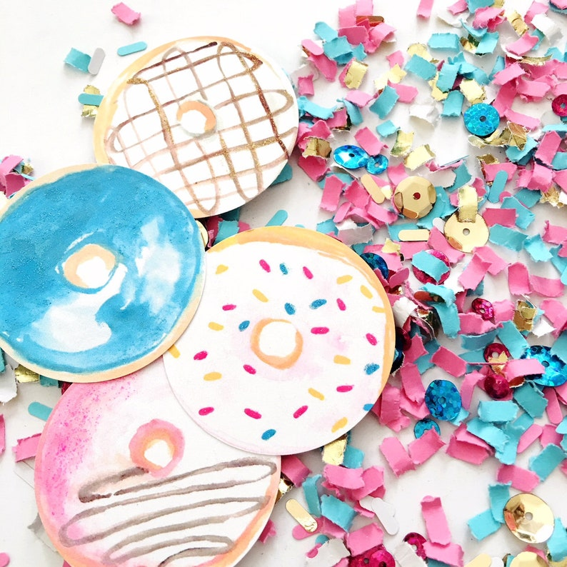 Donut Grow Up Party Confetti Donut Party Decor DIY Donut image 0