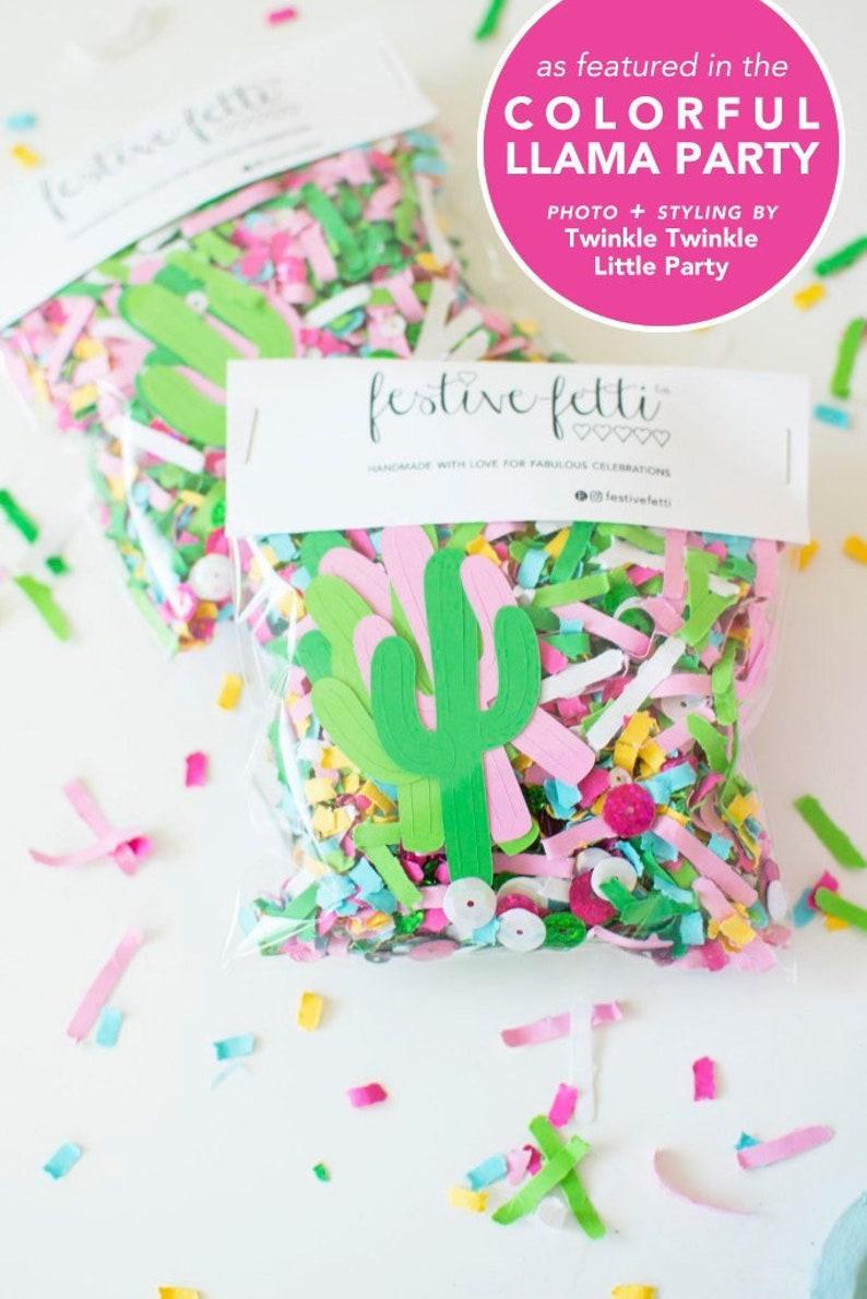 Fiesta Party Confetti Decoration Cactus Die Cuts Cactus image 0