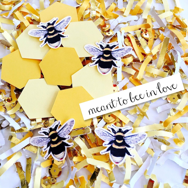 Meant to Bee Bridal Shower Confetti Bride to Bee image 0