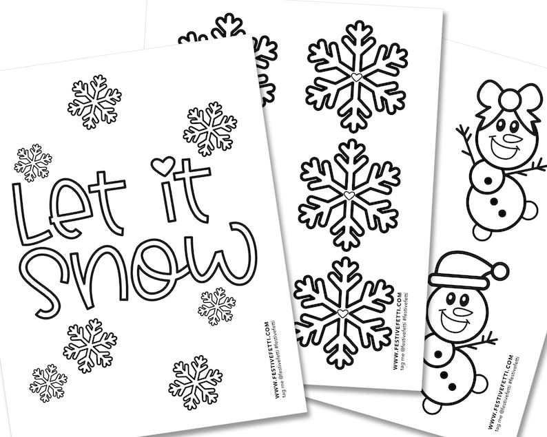 Ice Princess Party Snowflake Coloring Pages Kids Christmas image 0