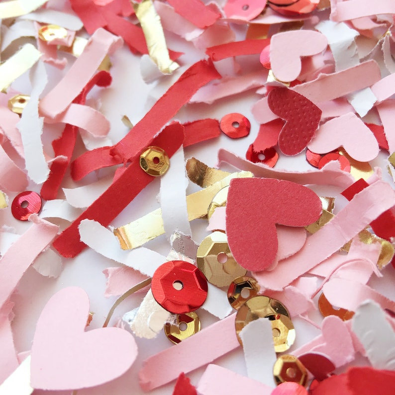 Valentines Day Party Decor Pink Red White Heart Decorations image 0