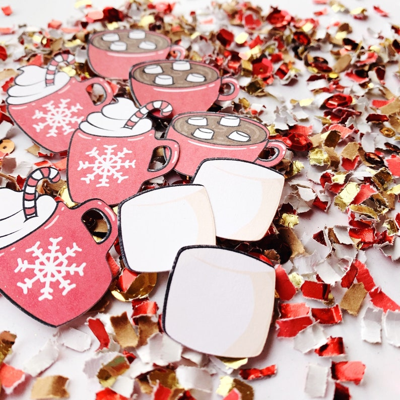 Hot Cocoa Party Hot Chocolate Favors Confetti Fun Holiday image 0