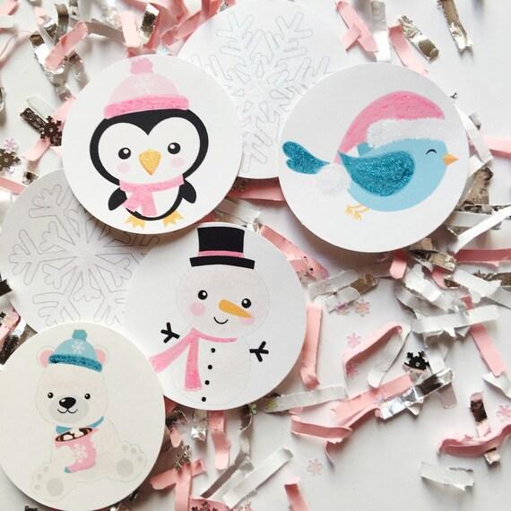 Winter Onederland Decorations Girl Pink Silver Winter Wonderland Girl Birthday Snowflake Birthday Decorations Snowflake Birthday Party