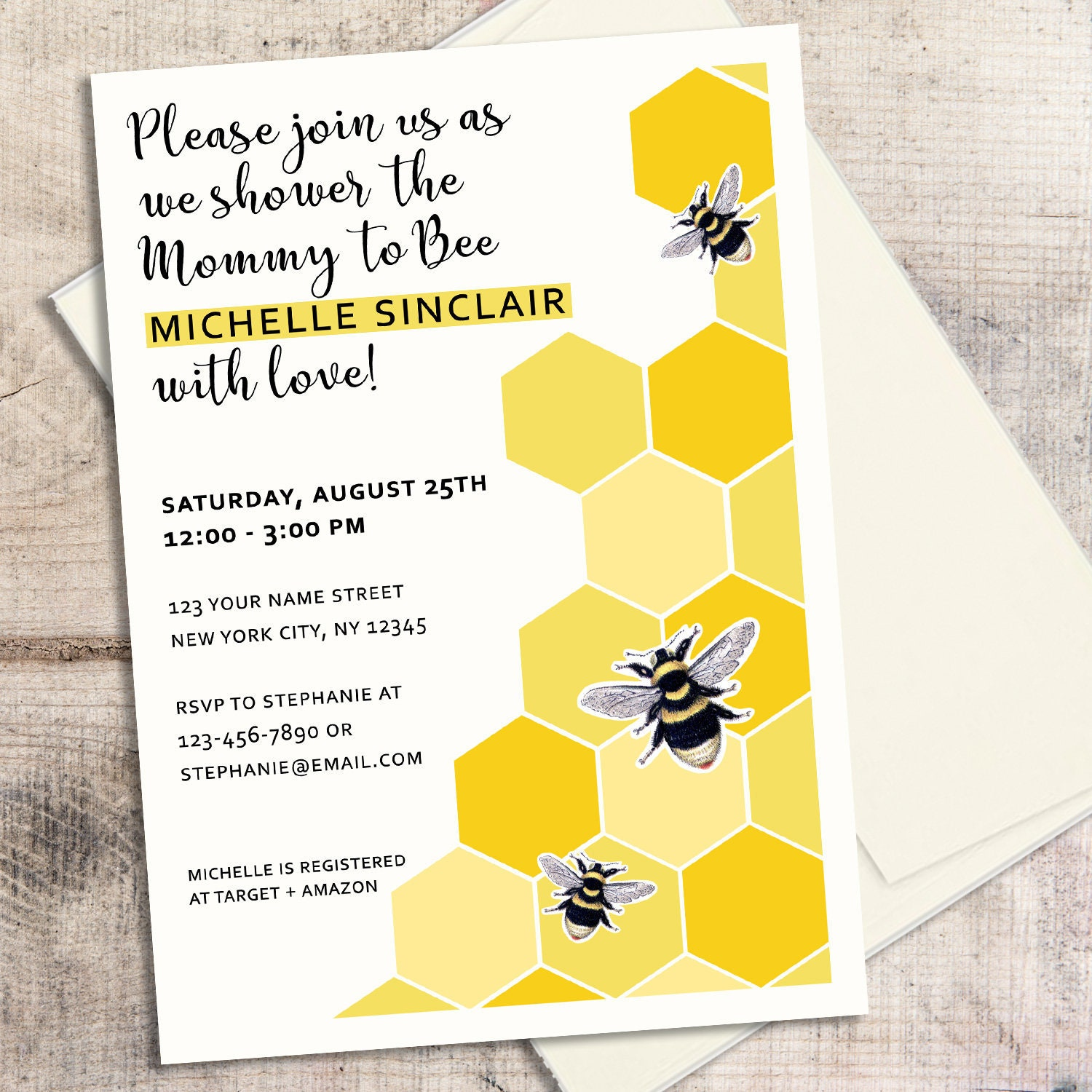 Bee Baby Shower Invitation Mommy to Bee Baby Shower Bee | Etsy