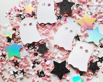 Pink Halloween Party Decor, Pink Halloween Birthday, Ghost Confetti, Girls Halloween, Modern Halloween, Holographic Halloween, New Halloween