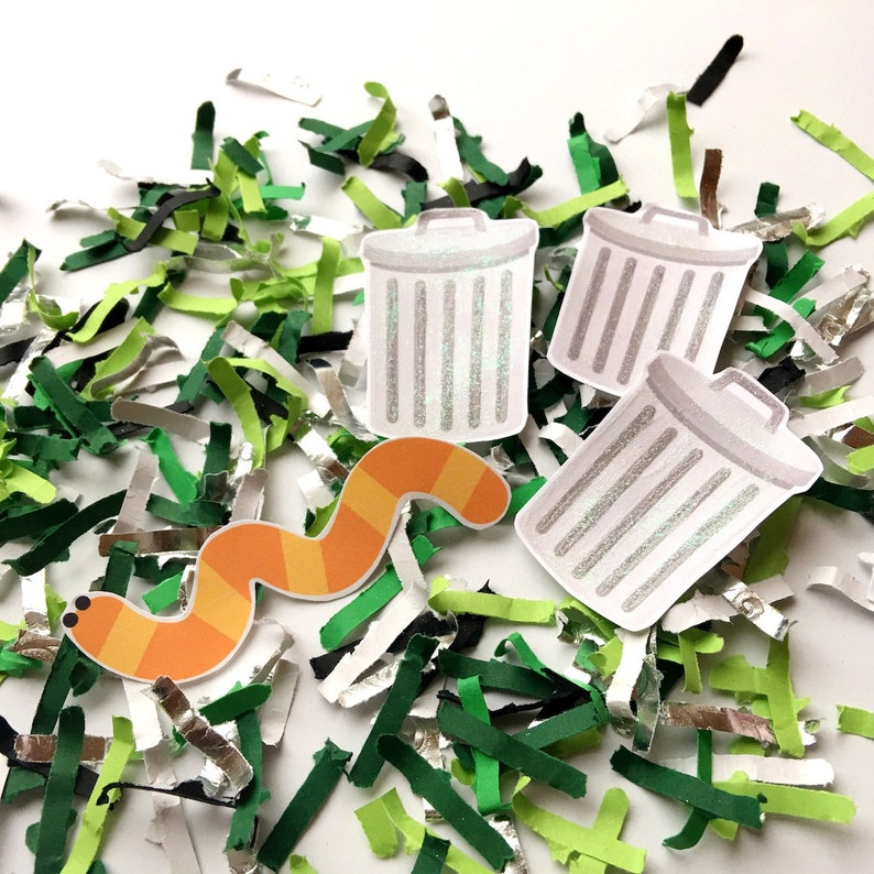 Garden Worm Party Decor Confetti Grouch First Birthday image 0