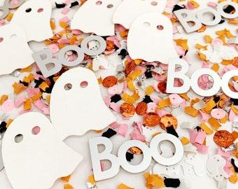 Halloween Boo Ghosts, Ghost Confetti, Halloween Confetti, Boo Confetti, Halloween Birthday Party Decorations, Pink Halloween Decorations