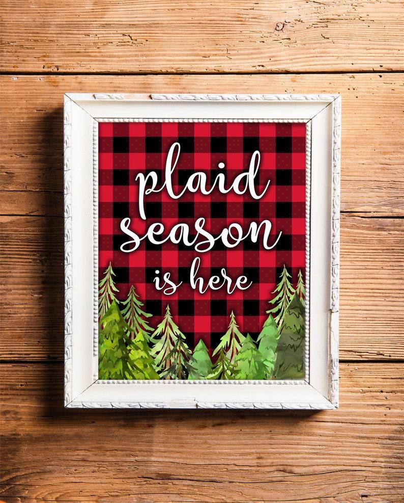 Festive Plaids Buffalo Plaid Christmas Decor Digital Holiday image 0