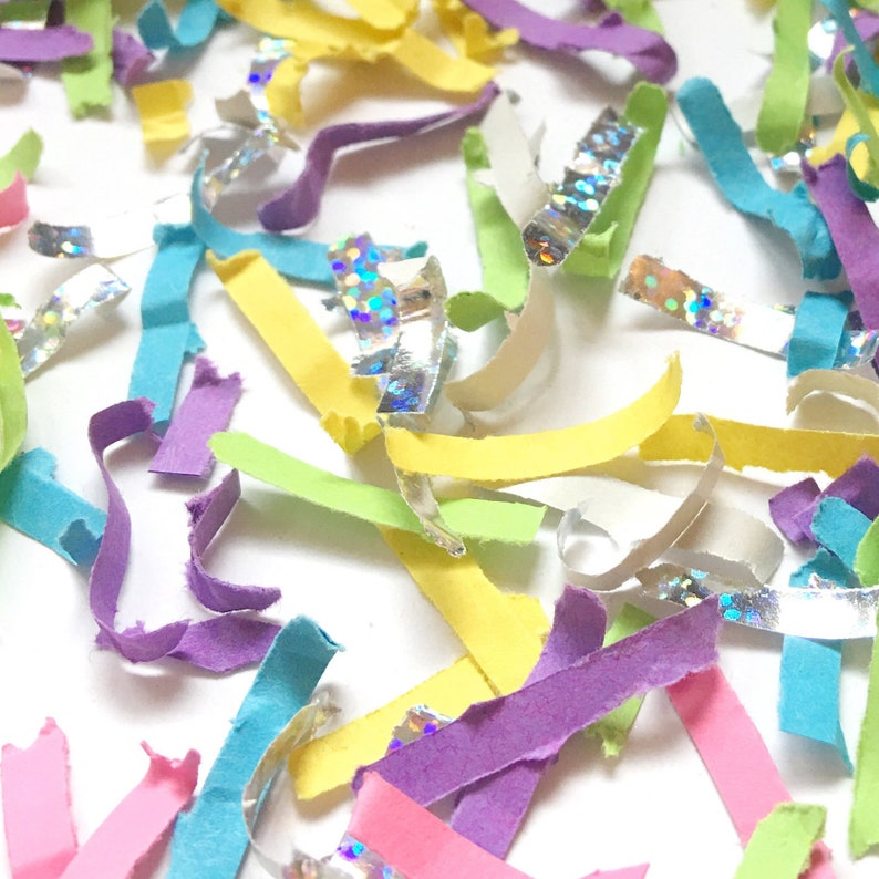 Unicorn Birthday Party Confetti Rainbow