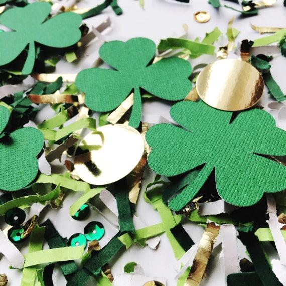 St Patrick S Day Birthday Decorations Clover Confetti