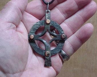Celtic/Friedrich Cross Split Steel Cross Hand forged Blacksmith Made Christian Cross Medieval Ren Fair Middle Ages Irish Cross Scottish Cros