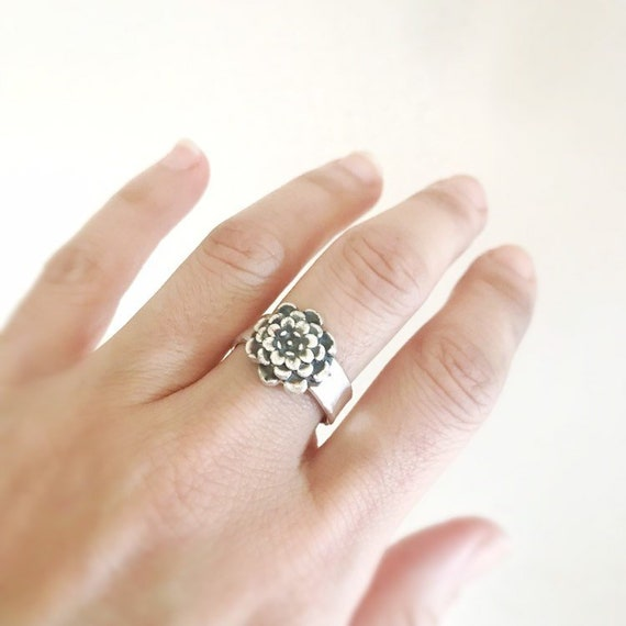 Floral Jewelry Chrysanthemum Flower Ring