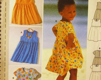 Burda 3023  Semi Fitted Dress Childs or Toddlers - Size 18M 2 3 4 5 6