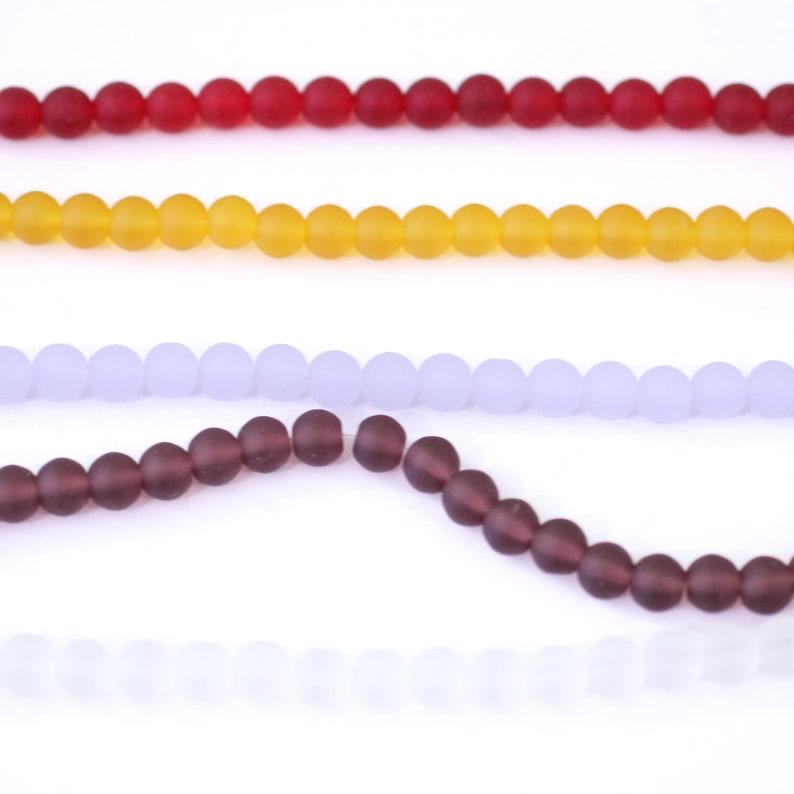 Yellow Sea Glass Round Beads Yellow Glass Round Beads Wholesale Beads for Designers  B846RD Round Beads with Thru Hole 8mm Round Beads