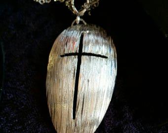 Spoon cross pendant