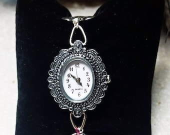 Watch, Inspiration 1951, quartz time piece,  upcycled vintage spoons, free gift box