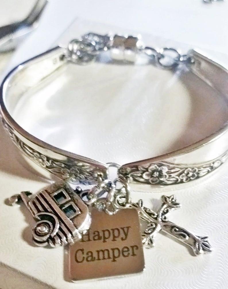Camper bracelet camper charm camping jewelry spoon image 0