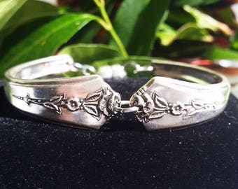 Spring Garden 1949, spoon bracelet, Mothers day, magnetic closure, gifts for her, free shipping and gift box, ready to ship