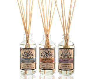 Natural reed diffuser lavender diffuser oil essential oil diffuser natural diffuser natural home fragrance room fragrance diffuser refill