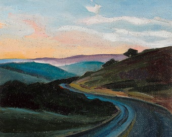 Limantour Road - giclee print on paper
