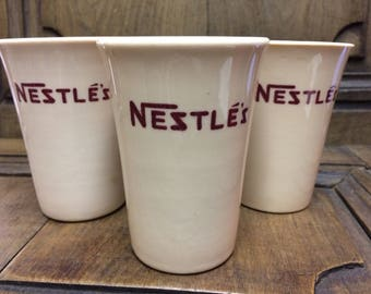 Vintage Nestle Ceramic Cocoa Cups Sterling China - J.L. Pasmantier and Sons