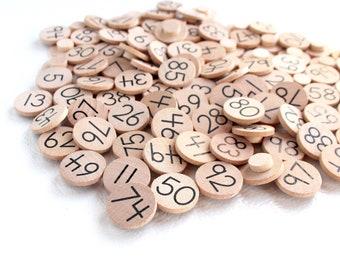Number Coins for Ten Frame, Twenty Frame, and Hundred Frame