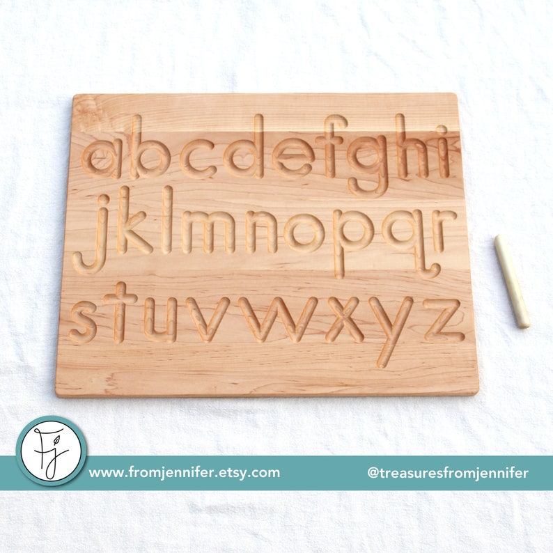 Printed Alphabet Wood Tracing Board From Jennifer image 0