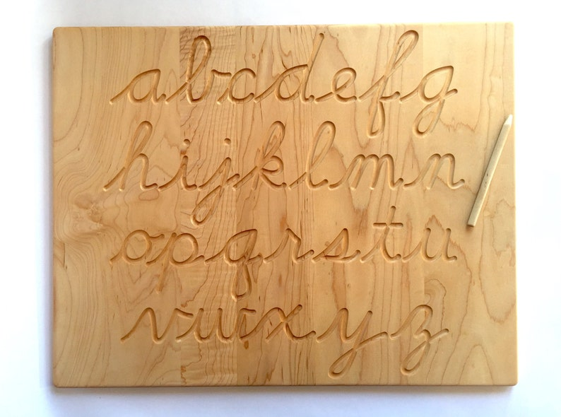 Cursive Alphabet Wood Tracing Board Lowercase and/or Uppercase | Etsy