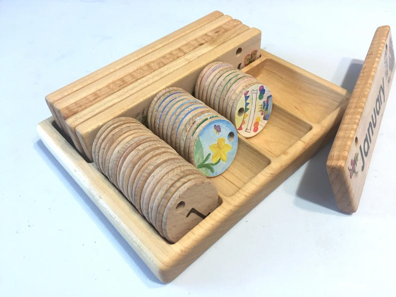 Storage Box For Wooden Perpetual Calendar
