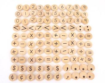 Symbols Coins for Ten, Twenty, and Hundred Frames