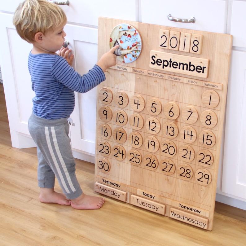 School Calendar  Wooden Perpetual Calendar  From Jennifer image 0