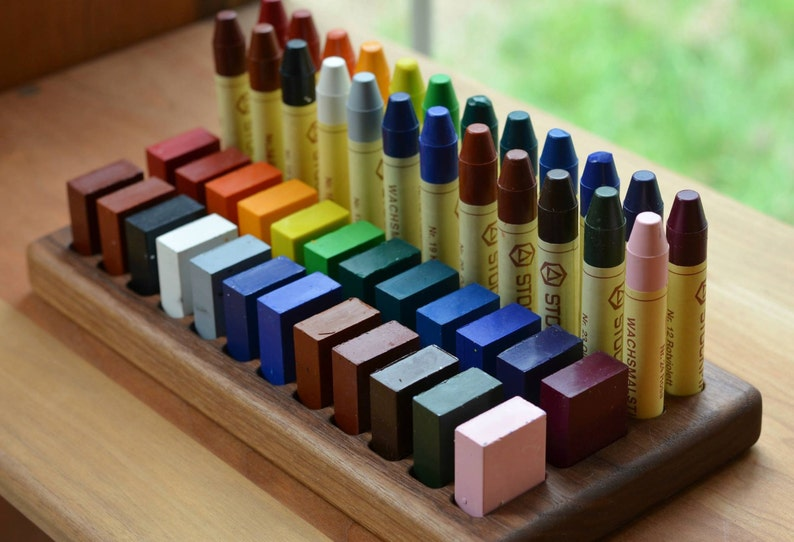 Wooden Beeswax Crayon Holder image 0