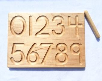 1-10 Number Board -- Waldorf Montessori School Toy